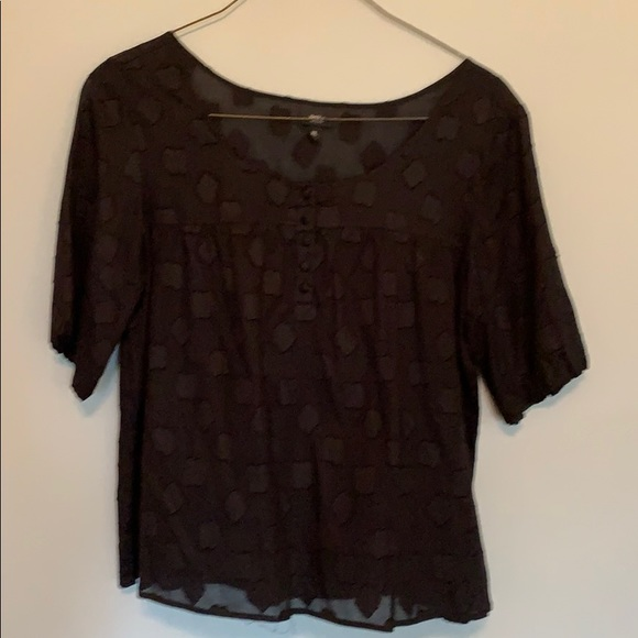 Mossimo Supply Co. Tops - Mossimo black printed blouse.